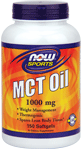 NOW Foods MCT Oil 1,000 mg 150 Softgels