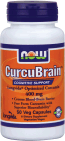 NOW Foods CurcuBrain™  400 mg 50 Veg Capsules