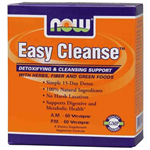 NOW Foods Easy Cleanse  A.M. 60 Vcaps, P.M. 60 Vcaps