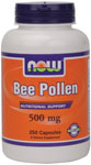 NOW Foods Bee Pollen Caps 500 mg 250 Capsules