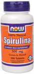 NOW Foods Spirulina 500 mg Vegetarian 100 Tablets