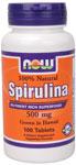 NOW Foods Spirulina 500 mg Vegetarian 100 Tablets