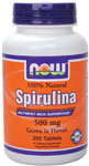 NOW Foods Spirulina 500 mg  Vegetarian 200 Tablets