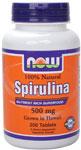 NOW Foods Spirulina 500 mg  Vegetarian 200 Tablets