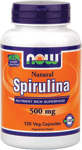 NOW Foods Natural Spirulina 500 mg 120 Vcaps®