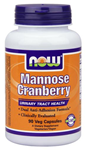NOW Foods Mannose Cranberry 90 Veg Capsules