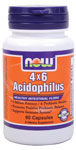 NOW Foods 4 X 6 Acidophilus 60 Capsules
