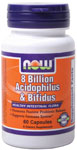 NOW Foods 8 Billion Acidophilus & Bifidus 60 Capsules