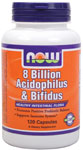 NOW Foods 8 Billion Acidophilus & Bifidus 120 Capsules