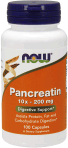 NOW Foods Pancreatin 10X 200 mg 100 Capsules