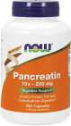 NOW Foods Pancreatin 10X 200 mg 250 Capsules