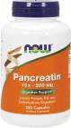 NOW Pancreatin 10x 200 mg 250 Capsules