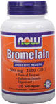 NOW Foods Bromelain 500 mg / 2,400 GDU 120 Vcaps