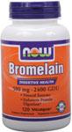 NOW Foods Bromelain 500 mg / 2,400 GDU 120 Vcaps