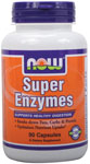NOW Foods Super Enzymes Caps  90 Capsules
