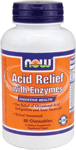 NOW Foods Acid Relief with Enzymes 60 Chewable Tablets