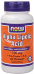 NOW Foods Alpha Lipoic Acid 100 mg 60 Vcaps™