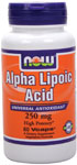 NOW Foods Alpha Lipoic Acid 250 mg 60 Capsules