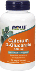 NOW Foods Calcium D-Glucarate 90 Veg Capsules