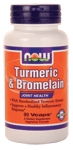 NOW Foods Turmeric & Bromelain 90 VCaps