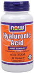 NOW Foods Hyaluronic Acid with MSM 60 Vcaps