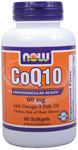 NOW Foods CoQ10 60 mg with Omega-3 Fish Oils 60 Softgels
