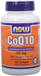 NOW Foods CoQ10 60 mg with Omega-3 120 Softgels