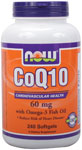 NOW Foods CoQ10 60 mg with Omega-3 240 Softgels