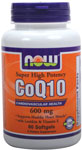 NOW Foods CoQ10 600 mg 60 Softgels