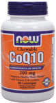 NOW Foods Chewable CoQ10 200 mg 90 Lozenges