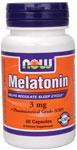NOW Foods Melatonin 3 mg  60 Capsules