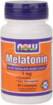 NOW Foods Melatonin 3 mg Sublingual  90 Lozenges