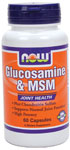 NOW Foods Glucosamine & MSM 750 mg/250 mg  60 Capsules