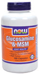 NOW Foods Glucosamine & MSM 750 mg/250 mg  180 Capsules