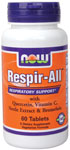 NOW Foods Respir-All 60 Tablets