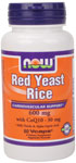 NOW Foods Red Yeast Rice 600 mg & CoQ10 30 mg  60 Vcaps