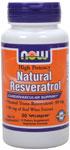 NOW Foods Natural Resveratrol 60 Vcaps