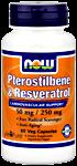 NOW Foods Pterostilbene & Resveratrol 50/250 mg 60 Vcaps