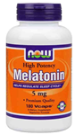 NOW Foods Melatonin 5 mg 180 Vcaps