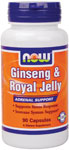 NOW Foods Ginseng & Royal Jelly 90 Capsules