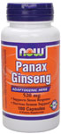 NOW Foods PANAX Ginseng 8 gr. 100 Capsules