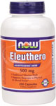 NOW Foods Eleuthero (Siberian Ginseng) 500 mg 100 Capsules