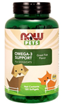 NOW Pets Omega-3 Support 180 Softgels