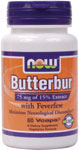 NOW Foods Butterbur with Feverfew 60 Vcaps