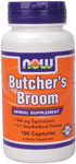 NOW Foods Butchers Broom 500 mg 100 Capsules