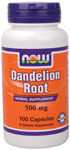 NOW Foods Dandelion Root 500 mg 100 Capsules