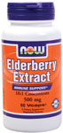 NOW Foods Elderberry Extract 500 mg 60 Vcaps