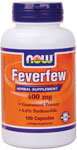 NOW Foods Feverfew 400 mg 100 Capsules