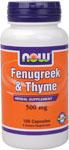 NOW Foods Fenugreek & Thyme 500 mg 100 Capsules