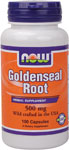 NOW Foods Goldenseal Root Caps 500 mg 100 Capsules